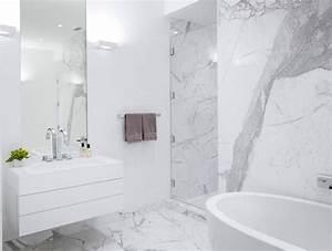 Salle De Bain Marbre Blanc : salle de bain marbre blanc id e d coration ~ Nature-et-papiers.com Idées de Décoration