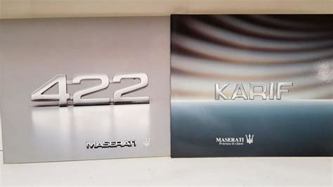 maserati karif brochure maserati 422 maserati karif catawiki