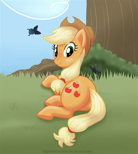 relaxed applejack by hollowzero on deviantart