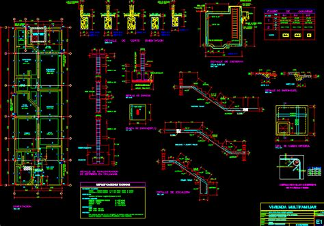 architecture multifamily housing details dwg detail