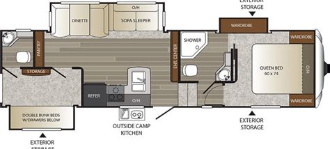 2016 fifth wheel floor plans bunkhouse new 2016 keystone outback 318fbh fifth wheel for sale