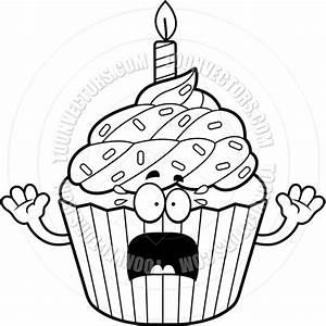 Birthday Cupcake Clip Art Black And White | Clipart Panda ...