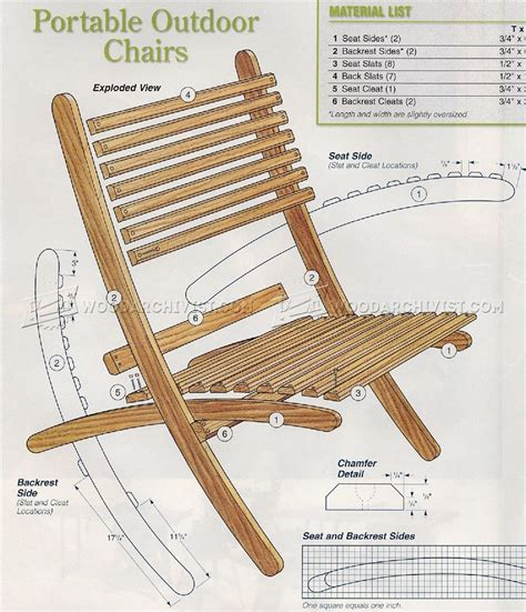 outdoor folding chair plans woodarchivist