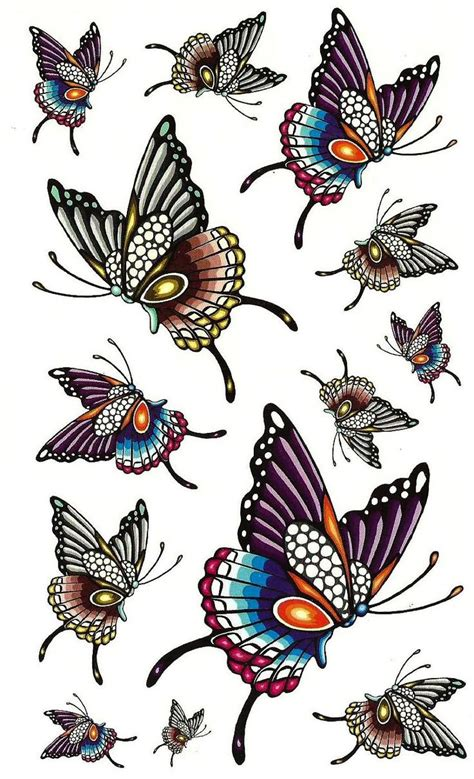 colorful butterfly tattoo designs images