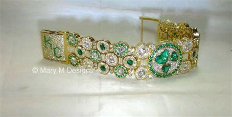 incredible cts  diamond  emerald bracelet custom