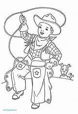 Cowgirl Coloring Pages Cowboy Getcolorings Charm sketch template