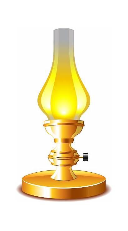 Lamp Kerosene Vector Clip Illustration Isolated Illustrations