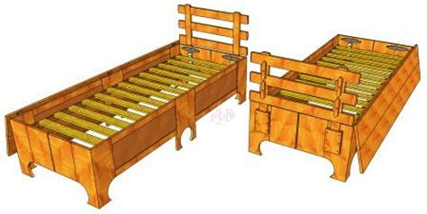 single folding bed  woodworking plans