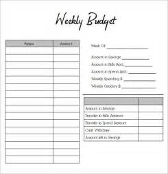 Budget Planner Template Excel Weekly Budget Planners Find Word Templates