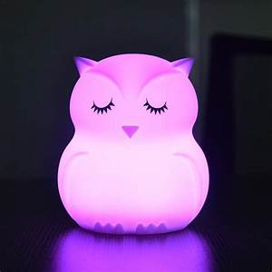 Lovely, Cartoon, Silicone, Baby, Led, Night, Light, Children, Toy, Lights, Bedside, Night, Lamp, Gifts, For