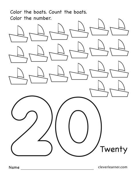 printable preschool worksheets number 20 printable best