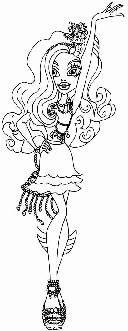 Monster Coloring Pages Lagoona Wishes Carpet Haunted