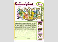 Familienmitglieder Arbeitsblatt - kalendaryo HD