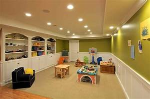Finished basement ideas with proper furnishing worth to for Finished basement kids