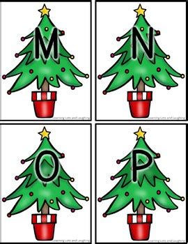 christmas alphabet match  learning lots  laughing tpt