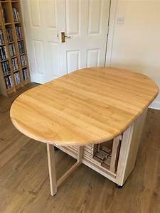 Drop, Leaf, Dining, Table, With, 4, Folding, Chair, Storage