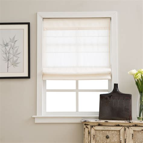 Fabric Shades by The Ivory Cordless Fabric Light Filtering Shade Is
