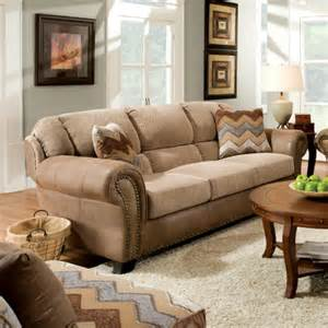 furniture of america castleton chenille and microfiber