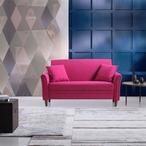 Small Modern Loveseat by Pink Modern Small Linen Fabric Living Room Loveseat With
