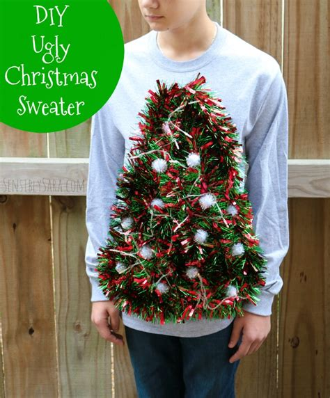 light up ugly christmas sweater the tree isnt the only thing getting lit diy sweater idea tree with working lights