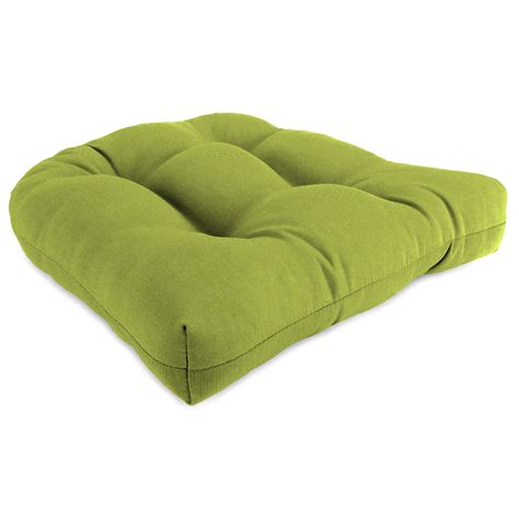 shop sunbrella spectrum kiwi patio chair cushion at lowes