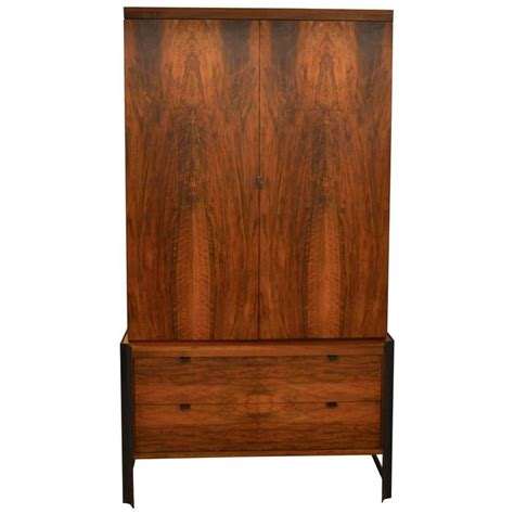 mid century cabinet hardware mid century romweber wardrobe or tv cabinet with steel