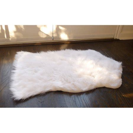 small faux fur rug home dynamix faux sheepskin fur rug white walmart