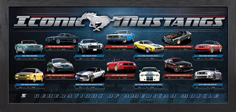 iconic mustangs framed lithograph pro sports memorabilia