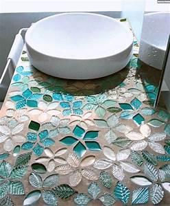 Mosaik Selber Fliesen Auf Altem Tisch : mosaik fliesen badezimmer waschtisch florale muster t rkis youtube ~ Watch28wear.com Haus und Dekorationen