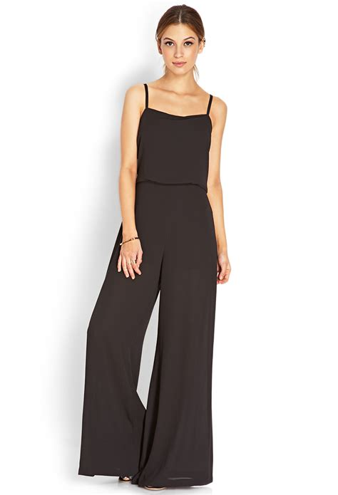 jumpsuit forever 21 forever 21 musthave jumpsuit in black lyst