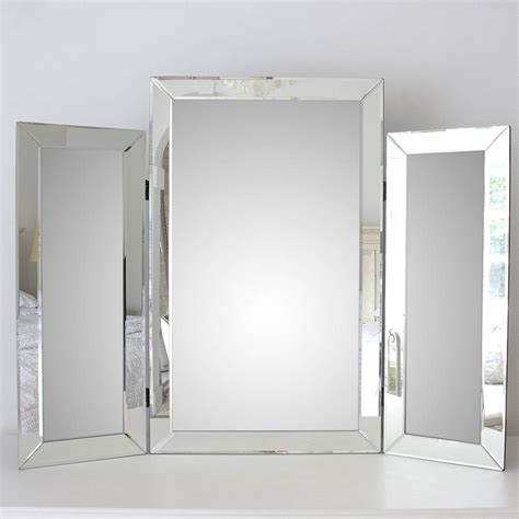 large bevelled dressing table triple mirror  decorative