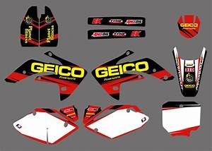 New Geico Team Graphic Decal Sticker Kits For Honda