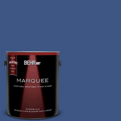 behr marquee 1 gal 600b 7 yacht club blue flat exterior paint 445301 the home depot