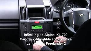 Alpine Ilx-700  Ilx-007 Apple Carplay Stereo  U2013 Installed In Land Rover Freelander 2