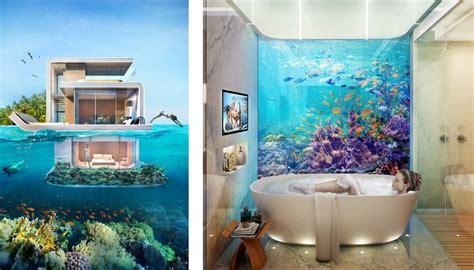 chambre design fille insolite une villa de rêve à moitié sous l eau