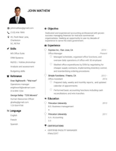 Free Resume Maker Templates by Resume Builder App Free Cv Maker Cv Templates 2019 لنظام