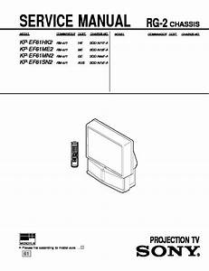 Sony Kp-ef41mn  Kp-ef53mn  Kp-ef61mn Service Manual