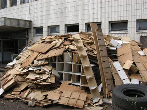 wood piles  broken furniture photo