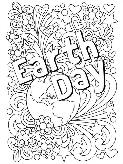 earth day coloring pages  printable earth day