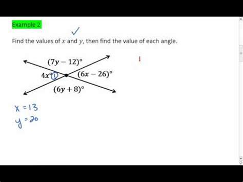 vertical angles solving     youtube