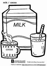 Milk Coloring Printable Pages sketch template