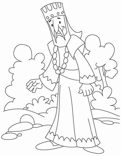 King Coloring Pages Printable Solomon African Josiah