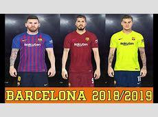 PES 2018 UNIFORME FC BARCELONA 20182019 PCPS4 YouTube