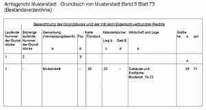 Abteilung 2 Grundbuch : alles ber das bestandsverzeichnis des grundbuchs ~ Frokenaadalensverden.com Haus und Dekorationen