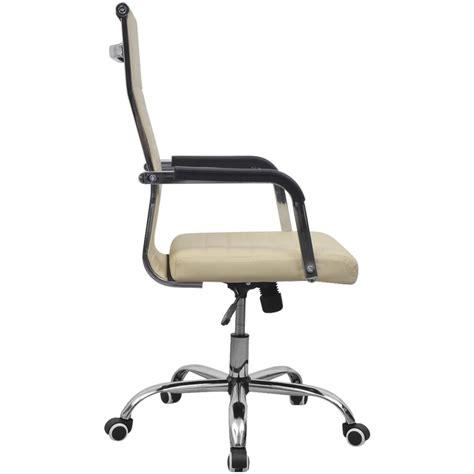 chaise de bureau en solde acheter vidaxl chaise de bureau en cuir artificiel 55x63