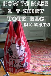 How To Make A No Sew T Shirt Tote Bag In 10 Minutes