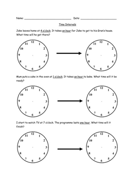 time interval worksheets ks1 by emmaj92 teaching