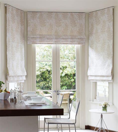 White Bamboo Roman Shades  Window Treatments Design Ideas