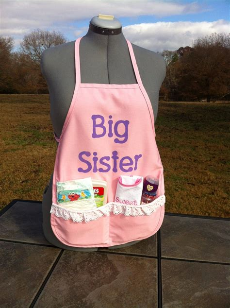 big sister apron big sister kit baby shower gifts