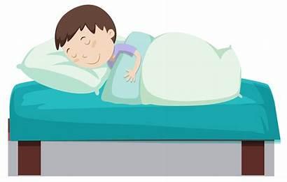 Sleeping Boy Bed Vector Clipart Non Keywords
